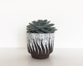 Vintage planter   Vintage ceramic pot   Succulent planter   West Germany planter   Strehla planter   Ceramic planter   Retro pottery