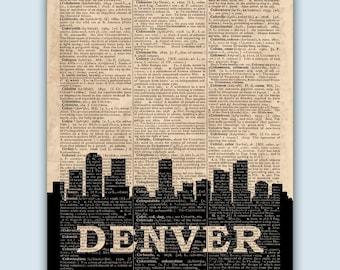Denver Skyline, Denver Poster, Denver Decor, Denver Print, Denver Wall Art, Denver Gift, Denver Wall Decor, Denver Colorado