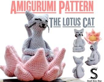 Crochet Pattern The Lotus Cat | Crochet Cat Pattern | Cat Crochet Pattern | Amigurumi Pattern PDF | Cat Crochet Doll