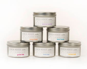 Birch House Candles, soy wax, travel tin, candle tin, spring candles, Short Hills, Millburn, New Jersey, NJ