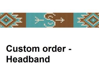Bead loom pattern - headband. Navajo