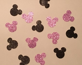 200 Minnie Mouse Confetti Glitter Confetti Minnie Mouse Birthday Confetti Minnie Mouse Baby Shower Confetti Minnie Mouse Decor Purple Black