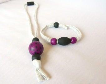 Girl's Necklace and Bracelet Set