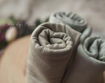 Newborn Photography Prop -  Newborn Wrap, Sage Hand Dyed