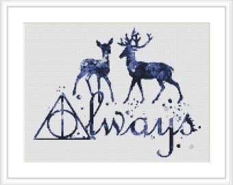 Harry Potter cross stitch pattern Always Quote Harry Potter Counted Cross Stitch Chart Harry Potter Movie PDF Instant Download X222
