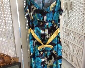 SALE! Vintage Woman's Cotton Dress, True Size 10, Bright Beautiful Colors, Exc.!