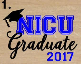NICU Graduate / NICU Iron On Transfer / Iron On Transfer for onesie