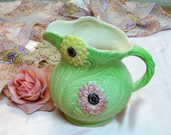 Green Floral Jug by Shorter & Son (stock#