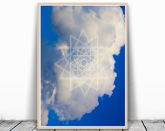 Cloud Wall Mural Blue Sky Print Cloud Photo Large Blue Wall Art Clouds Picture Sky Photography Large Sky Photo Blue Art Cloud Photography