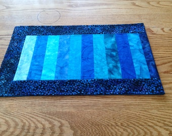 Ocean colors batik table runner