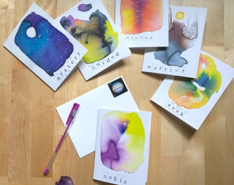 SoulSpace Oracle greetings | Set of 6 cards