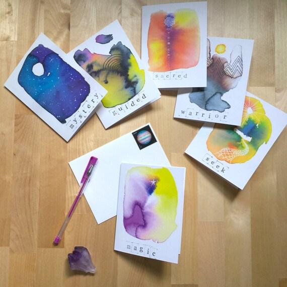 Numinous greetings | Set of 6 cards