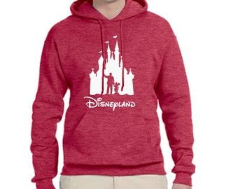 Unisex Disney Hoodie Walt and Mickey Partners Castle Disneyland Hoodie Disney World Sweatshirt shirt Magic Kingdom Hoodie