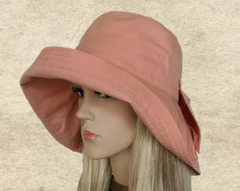 Large brim sun hat, Cotton summer hats, Floppy hats summer, Suns hats women, Hats organic fabric, Hats for summer, Pink sun hat lady