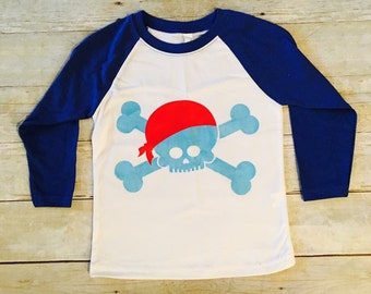 Glow in the dark pirate raglan