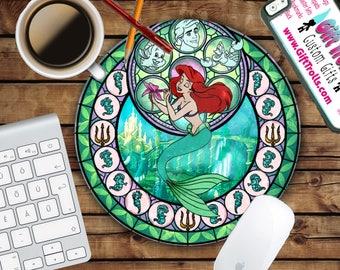 Ariel - Kingdom Circle Mouse Pad - Mousepad - CoWorker Teacher Gift - The Little Mermaid