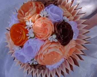 Bouquet of marriage/Wedding brooch/Bridal Bouquet in satin/Wedding Bouquet kanzashi/satin/ribbon satin flowers