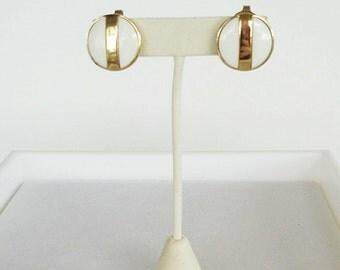 Vintage Avon White Gold Stud Earrings