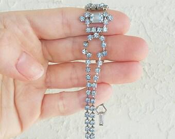 Vintage La Rel Blue Rhinestone Bracelet