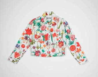 MOSCHINO - Floral jeans jacket