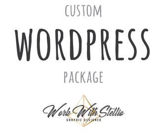Custom Wordpress Website, blogger theme, Wordpress blog theme, website design, photography website, wedding website WORK WITH STELLIO