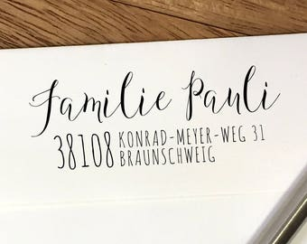 Custom Return Address Stamp: Self Inking Stamp or Rubber Stamp with Wood Handle
