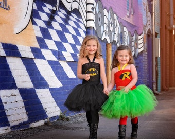 Robin tutu dress - Robin costume - comic con - superhero costume  - tutu dress - comic con costume - Batman birthday