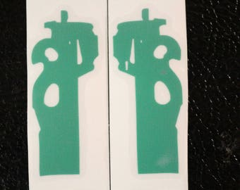 Pair of P90 Sub Machine Gun Decal Any Size Any Colors