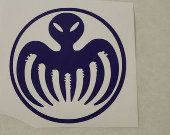 Spectre Octopus Bond Decal Any Size Any Colors