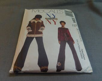 Juniors Lined Jacket, Top and Pants, Sizes 9 - 14, Uncut Pattern, McCalls NY NY Junior 2294