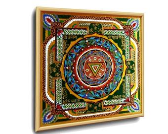 "MAHA KALI Yantra - energetic art art healing Studio: Dr. Astrid Bohach. A series of ""Classic Yantras""."