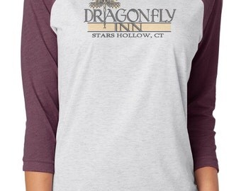 Dragonfly Inn 3/4 sleeve Raglan