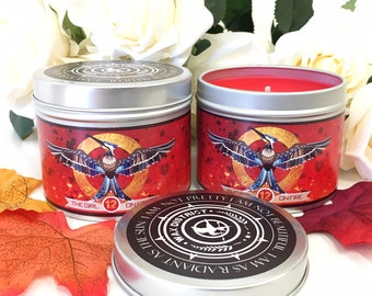 Hunger games Mockingjay scented candle - hunger games candle - mocking jay district 12 - katniss everdeen - bookish candle girl on fire book