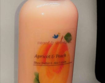 Apricot & Peach Shea Butter and Aloe Lotion