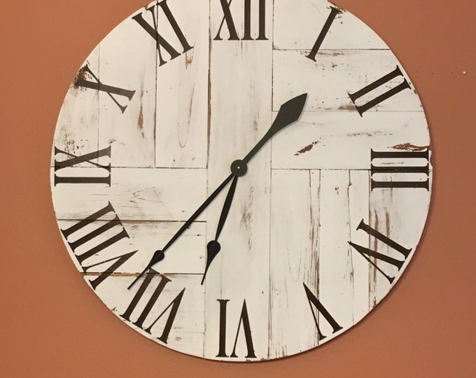 big wall clock farmhouse clock large clock oversized clock
