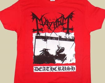 Mayhem Deathcrush, T-shirt 100% Cotton