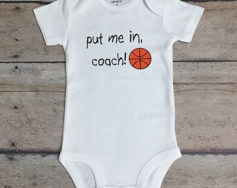 Baby Boy Bodysuit, Put Me In Coach, Basketball Bodysuit, Boy Basketball Tee, Basketball Life, Ball Life, Basketball Shirt, Toddler Boy, Baby