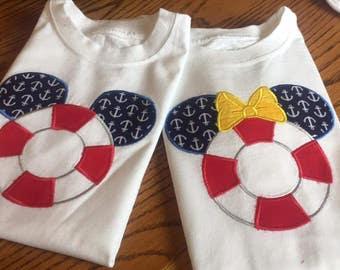 Disney Family Cruise Shirts - Life Preserver - Nautical Theme