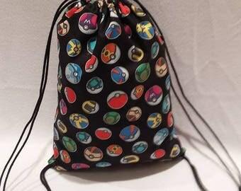 Pokeball Drawstring Backpack