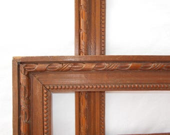 Two large vintage French Picture Frames.  Carved Wood Frames. Picture frame.  (5472)