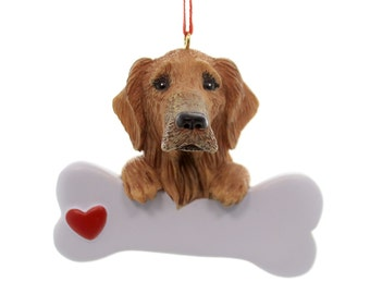 Golden Retriever Personalized Christmas Ornament, Ornament, Golden Retriever, Retriever, Personalized,