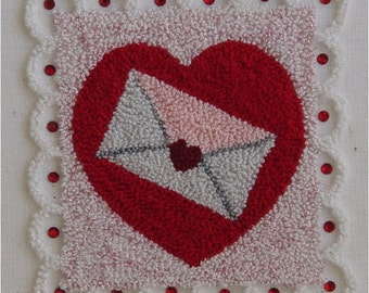 572 Valentine Stamp, Fun to Punch, Digital Pattern
