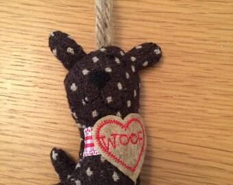 Fabric Hanging dog decoration
