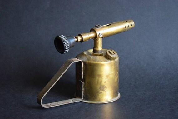 Antique blowtorch made in austria retro brass petrol