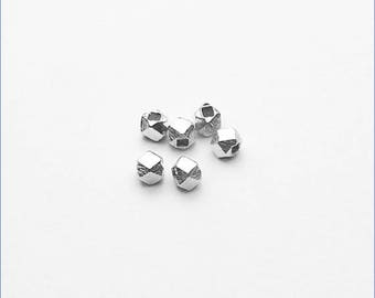 HB008 ~ Faceted Spacer Bead ~ 6/pkg
