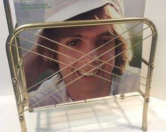 Vintage brass magazine/album rack *FREE SHIPPING*