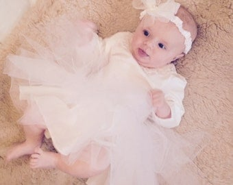 Baby tutu, net, flower fairy, tulle, headband