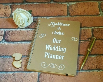 Wedding Planner Notebook, Wedding Planning Notebook, Wedding Organiser, Wedding stationery, Personalised Wedding Planner Notebook