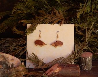 Forest Hedgehog Earrings