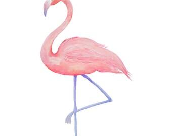 Flamingo Print - Watercolour Painting